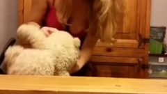 Slut Farting On Teddybear